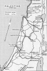 map of palestine