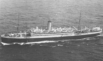 overhead view of troopship orduna